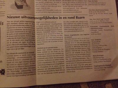 Baarnsche Courant december 2013